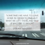 Friday Favorites: Thoughts on Returning Home