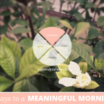 31 Days to a Meaningful Morning: What Do You Need From This Time?