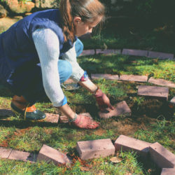 How to Create a Brick Garden Labyrinth