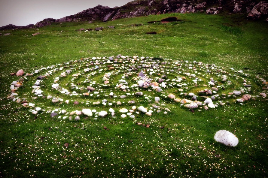 Labyrinth on Iona, by Patricia Turner