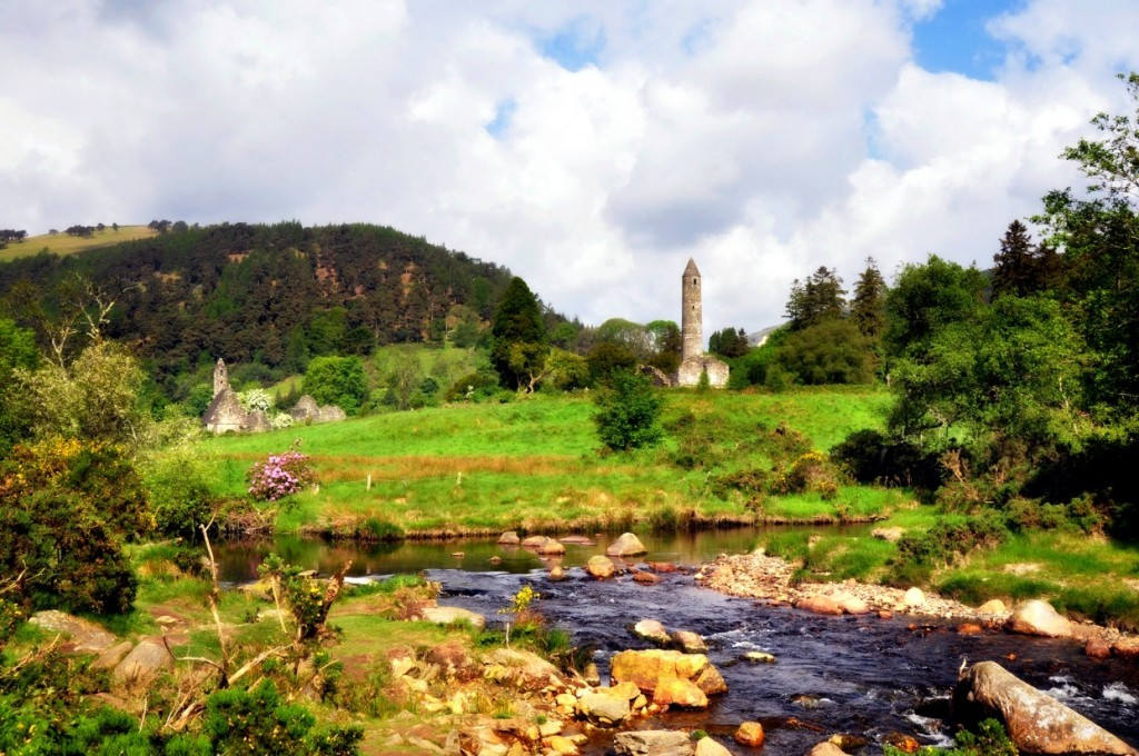 Monastic City in Glendalough by Patricia Turner