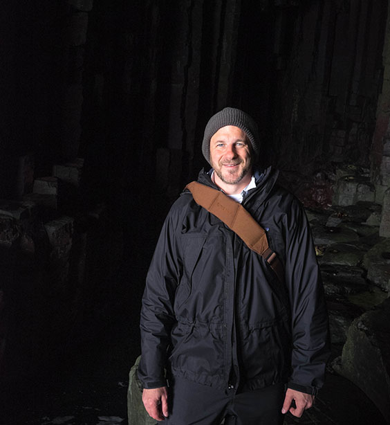 Pat Loughery in Fingal's Cave