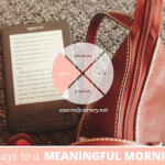 31 Days to a Meaningful Morning, Disclaimer Edition: When There Is No Space and You Don't Have a Place…
