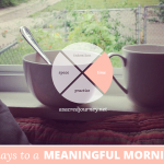 31 Days to a Meaningful Morning, Disclaimer Edition: For When You Really, Truly Don't Have the Time