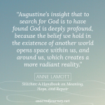 Monday Musings: The Search Opens Space Within Us