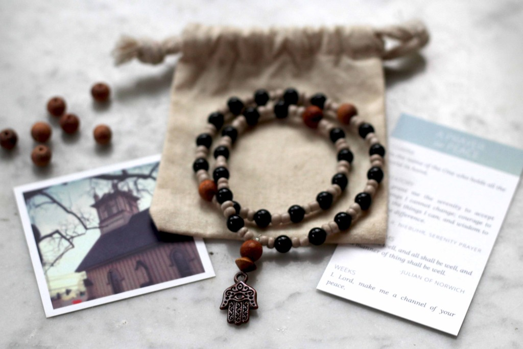 wearable prayer beads - hamsa