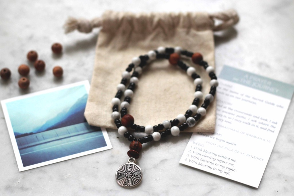wearable prayer beads - labyrinth