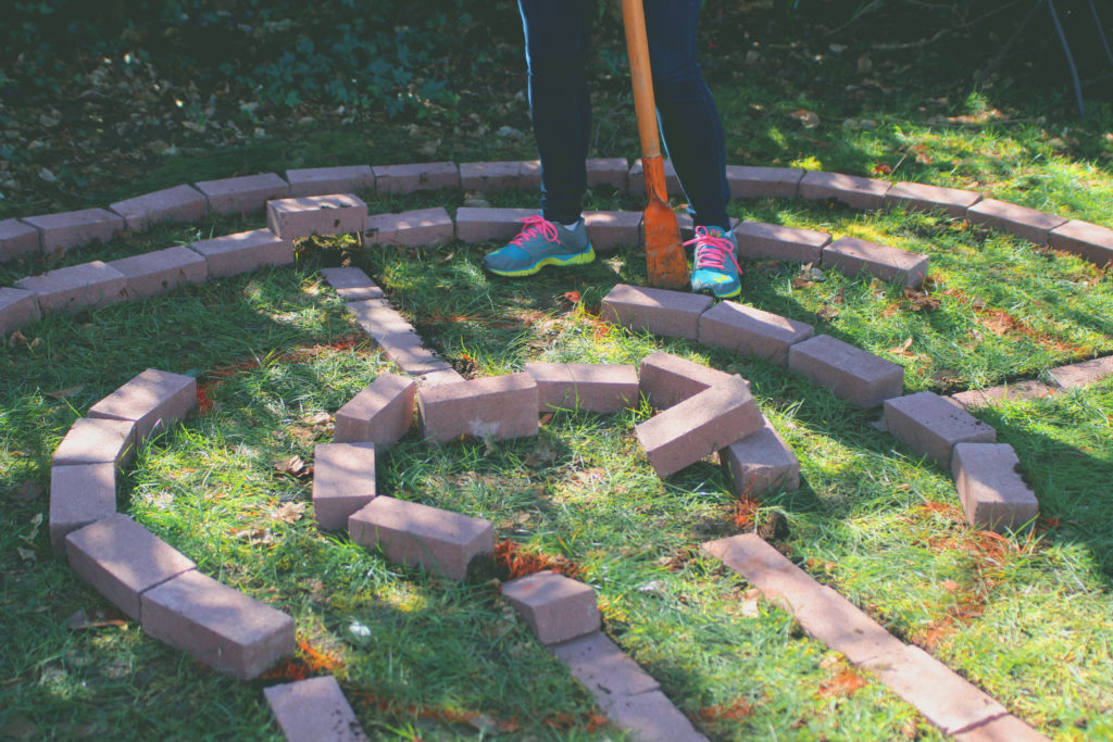 How to Create a Brick Garden Labyrinth - A Sacred Journey Garden Labyrinth Designs Easy on easy prayer labyrinth designs, simple labyrinth design, outdoor labyrinth design,